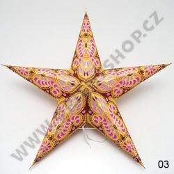 Lampion stínidlo hvězda Indira III.