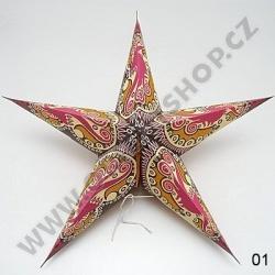 Lampion stínidlo hvězda Shobha I.