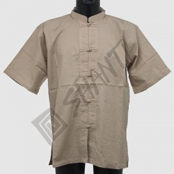 Košile kurta Oliver krátký rukáv M natural