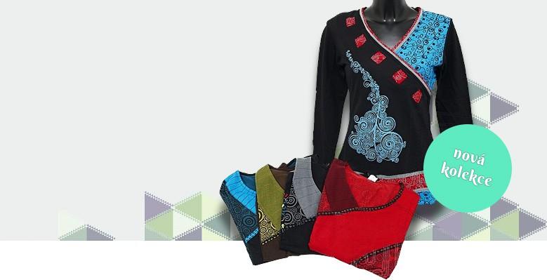 Zimní kabátky, trička, tuniky, šaty i sukně