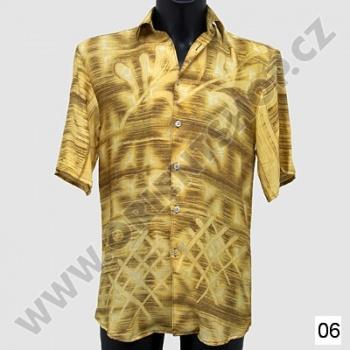 Košile s krátkým rukávem přírodní S