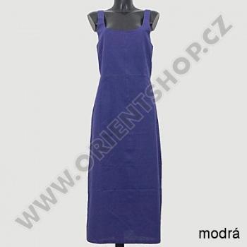 Šaty dlouhé na ramínka jednobarevné
