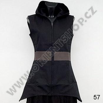 Tunika Zoe s kapucí M černo šedá