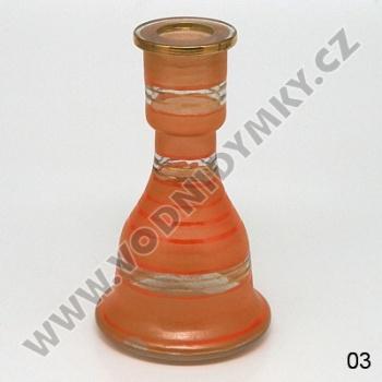 Váza pro vodní dýmky Top Mark Sokar 22 cm oranžová
