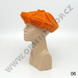 Baret vlna oranžový