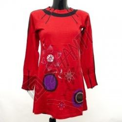 Šaty Joy 17 dlouhý rukáv M červená