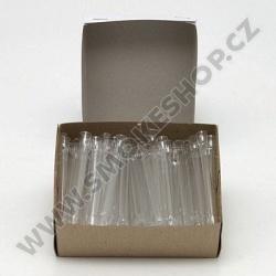 Skleněnka 8 cm průměr 6 mm Box 100 ks