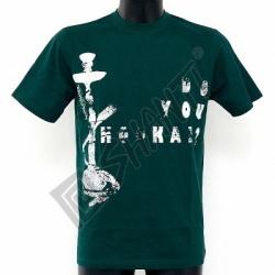 Tričko It's not a bong krátký rukáv XL zelená tmavá